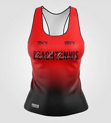 Regata Feminina | Beach Tennis | Colors | Vermelha