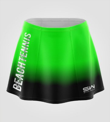 Shorts-Saia | Beach Tennis | Colors | Verde e Preto