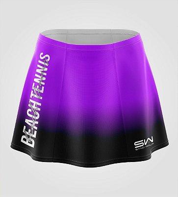 Shorts-Saia   Beach Tennis   Colors   Purple e Preto