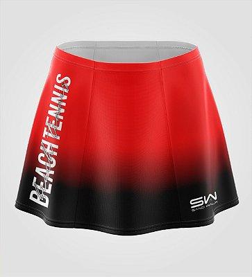 Shorts-Saia | Beach Tennis | Colors | Vermelho e Preto