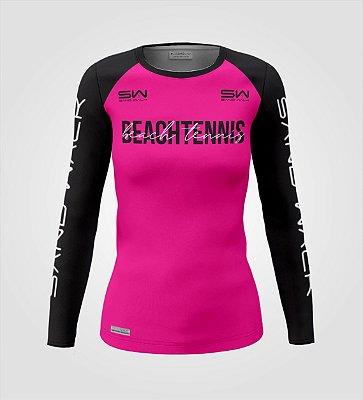 Camisa Manga Longa   Feminina   Beach Tennis   Colors   Vermelha