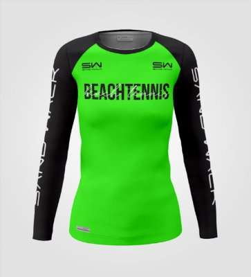 Camisa Manga Longa   Feminina   Beach Tennis   Colors   Verde