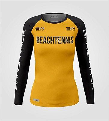 Camisa Manga Longa | Feminina | Beach Tennis | Colors | Mostarda