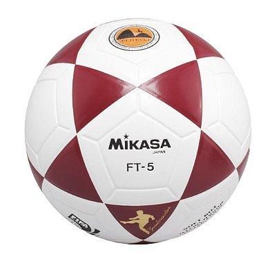 BOLA OFICIAL FUTEVÔLEI MIKASA FT5 - Branco e vermelho