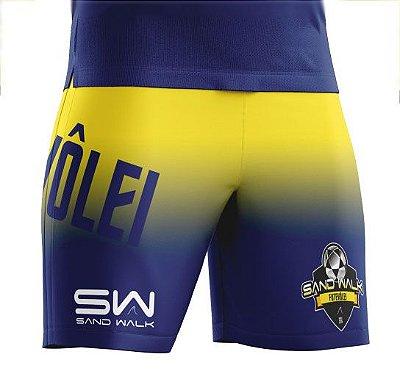 Shorts Masculino | Modelo Treino | Amarelo e azul