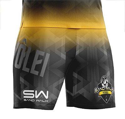 Shorts Masculino | Modelo Treino | Geométrico amarelo