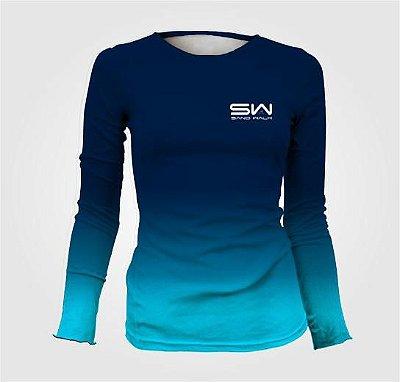 Camisa Térmica Feminina | Manga Longa | Azul