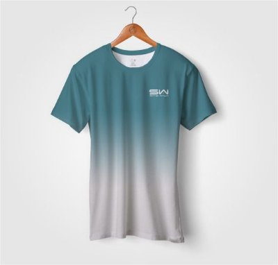 Camiseta Beach Tennis | Manga Curta | Azul e Branca