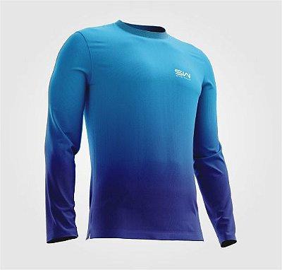 Camisa Térmica | Manga Longa | Beach Tennis| Azul