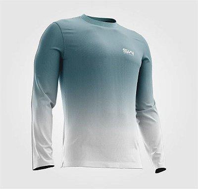 Camisa Térmica | Manga Longa | Beach Tennis| Azul e Branca