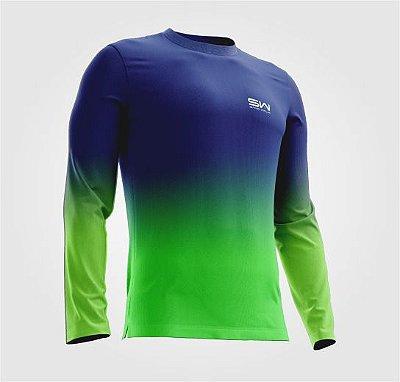 Camisa Térmica | Manga Longa | Beach Tennis| Azul e Verde