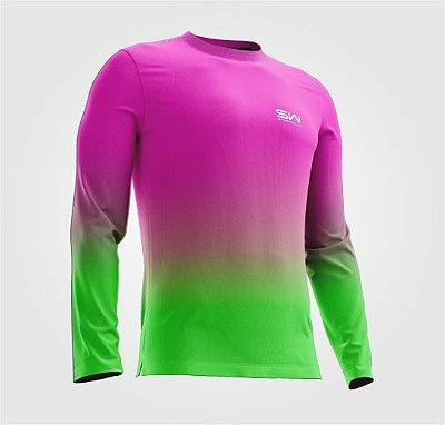 Camisa Térmica | Manga Longa | Beach Tennis| Rosa e Verde