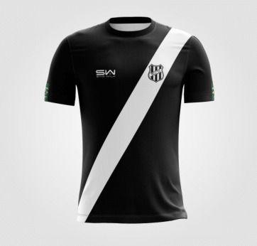 Camiseta Masculina | Coleção Manto | Preta com Listra