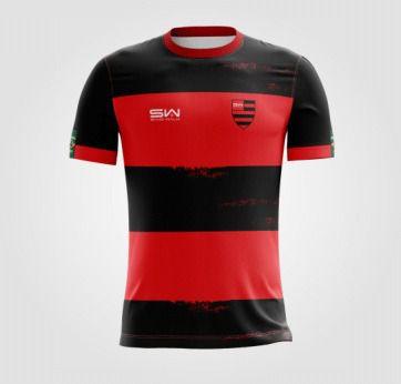 Camiseta Masculina | Coleção Manto | Preta e Vermelha