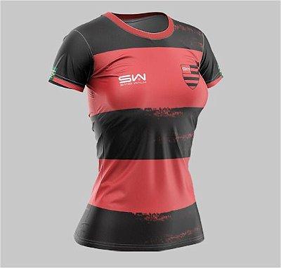 Camiseta Feminina | Coleção Manto | Preta e Vermelha
