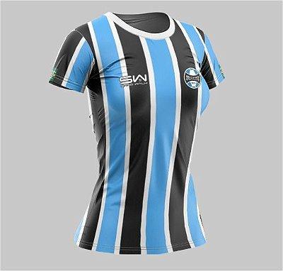 Camiseta Feminina | Coleção Manto | Preta e Azul