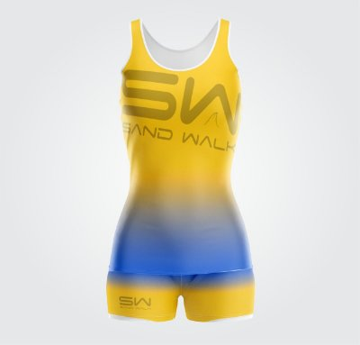 Conjunto Regata e Shorts | Feminino | Coleção #todosjuntos | Amarelo e Azul