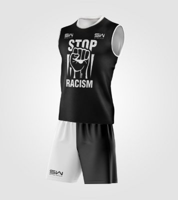 Conjunto Regata e Shorts | Stop Racism
