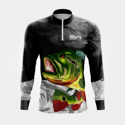 Camisa Térmica Masculina | Manga Longa | Fishing Preta