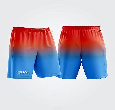 Shorts Masculino | Modelo Treino | Laranja e Azul