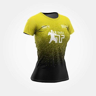 Camiseta Feminina | Térmica | Amarela | Coleção Tatá SW