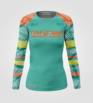 Camisa Térmica Feminina | Manga Longa | Beach Tennis | Coleção Voleio