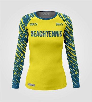 Camisa Térmica Feminina | Manga Longa | Beach Tennis | Coleção Drop Shot