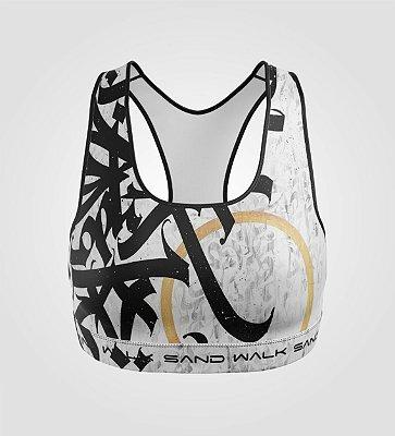 Top Treino | Feminino | Graffiti Branco