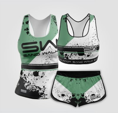 Kit de Aniversário Sand Walk | Feminino | Regata, shorts e top | Attack Green