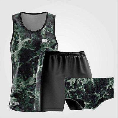 Kit de Aniversário Sand Walk | Masculino | Regata, shorts e sunga | Militar