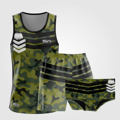 Kit de Aniversário Sand Walk | Masculino | Regata, shorts e sunga | Militar 2.0