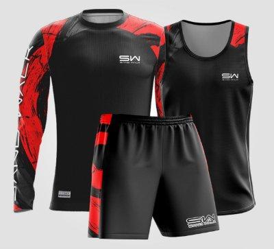 Kit Regata, manga longa e shorts | Masculino | Vortex