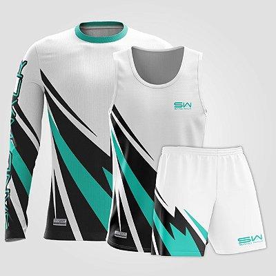 Kit Masculino | Regata, shorts e manga longa | Racing