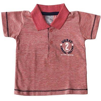Camiseta Polo Mescla Vermelha Hering Kids
