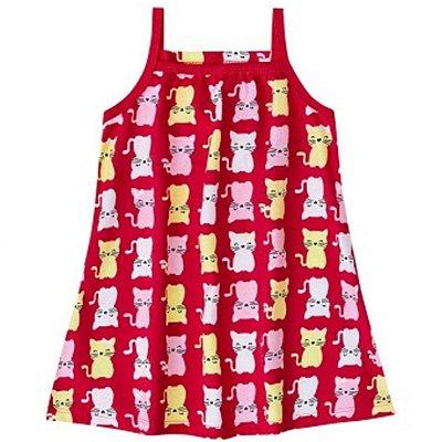 Vestido Gatinhos Vermelho Kyly