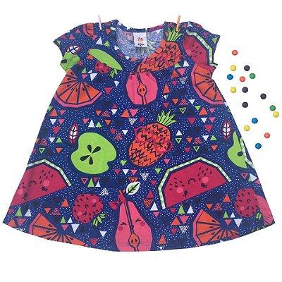 Vestido Frutinhas Colorido ZigZagZaa