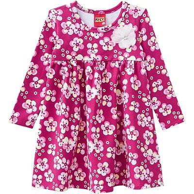 Vestido Florido Molicotton Pink Kyly