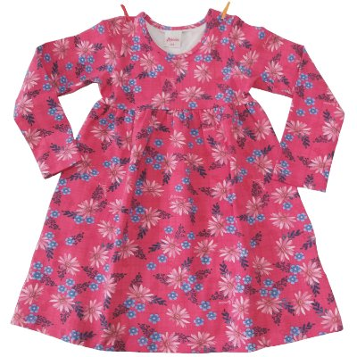 Vestido Cotton Florido Rosa Alenice