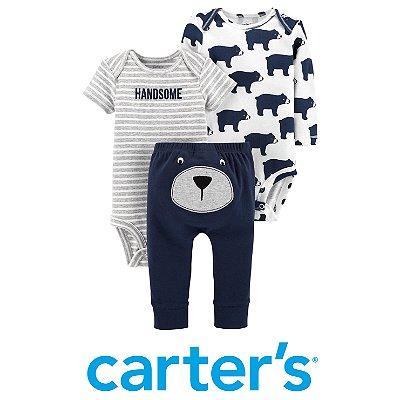 Kit 2 Bodies e Calça Urso Bebê Carter´s