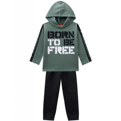 Conjunto Infantil Born To Be Free Verde Kyly
