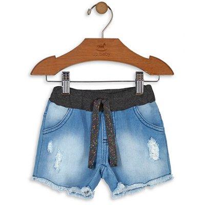 Shorts Menina Jeans Up Baby