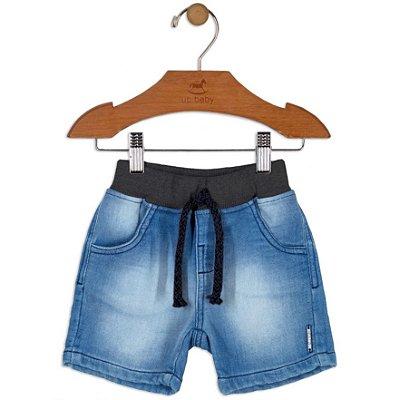 Bermuda Jeans Primeiros Passos Menino Up Baby