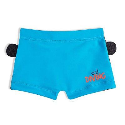 Shorts Praia Macaco Bebê Azul Tip Top