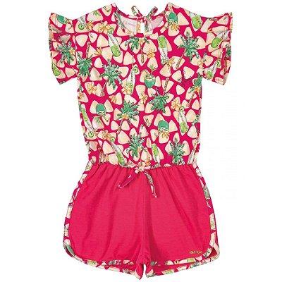 Macaquinho Infantil Cocos Pink Quimby