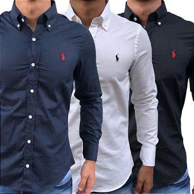 3 Camisas Sociais Masculinas Polo
