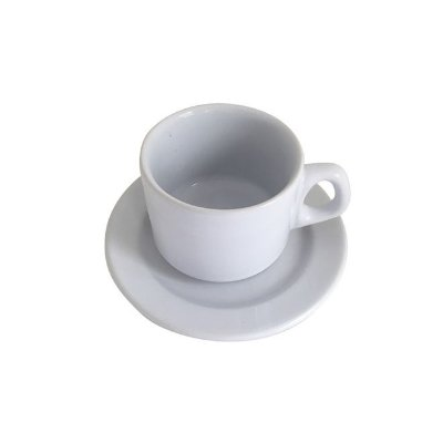 Xícara com Pires de Porcelana 200 ml para Sublimação