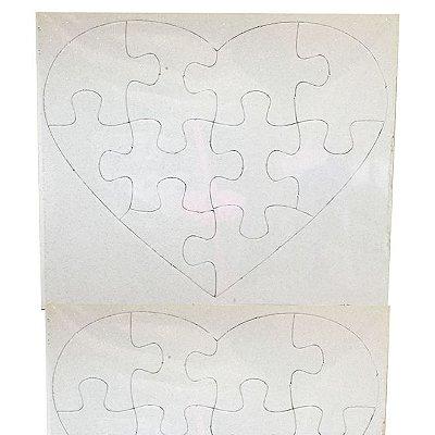 Quebra-cabeça Coração Glitter 10 peças (10 Unidades)