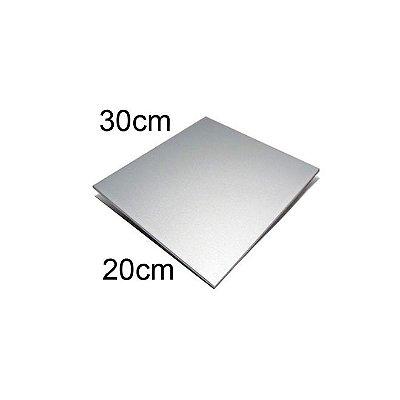 Chapa de Alumínio Prata 20 x 30 cm Sublimação