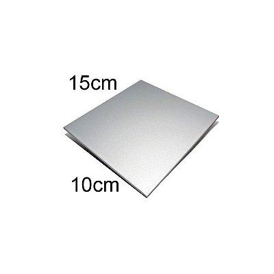 Chapa de alumínio 10 x 15 cm para sublimação