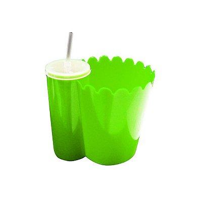 PipoFri - Balde de pipoca acoplado copo Plastico